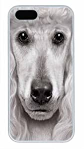 Protective PC Case Skin for iphone 5 White Fashion PC Case Back Cover Shell for iphone 5S with Funny Dog