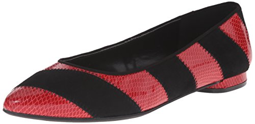 Outnow Black West Nine Women's Synthetic Ballet Red Flat 0w8wqA