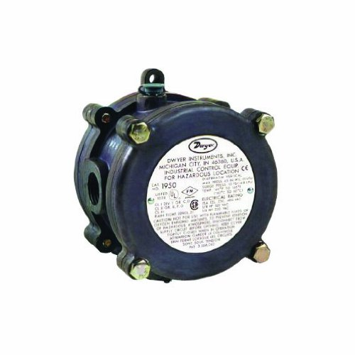 Dwyer Series 1950 Explosion-proof Differential Pressure Switch, Range 0.4-1.6