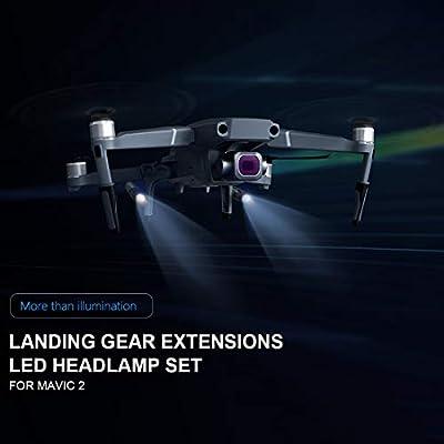 Haoun PGYTECH Increased Landing Gear LED Kit for DJI Mavic 2 PRO/Mavic 2 Zoom,Head Lamp: Toys & Games
