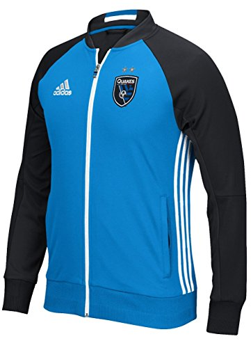 adidas San Jose Earthquakes MLS Anthem Men's Sideline Full Zip Jacket