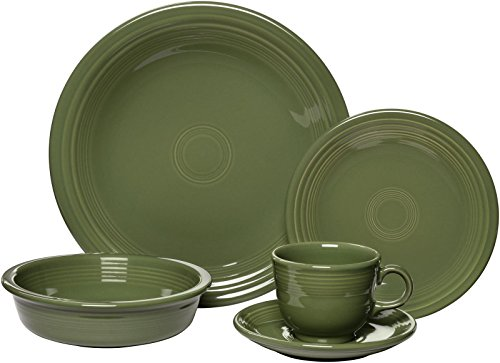Fiesta Dinnerware Place Setting - Sage - 5 ct