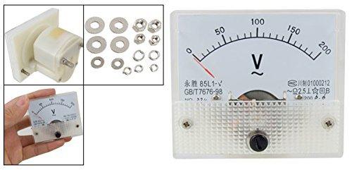 eDealMax 85L1 Panneau AC 0-200V Rectangle analogique Volt Gauge Compteur