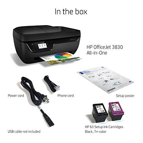 Large Product Image of HP OfficeJet 3830 All-in-One Wireless Printer with Mobile Printing, HP Instant Ink & Amazon Dash Replenishment ready (K7V40A)