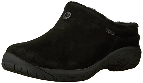 Merrell Women's Encore Ice Slip-On Shoe,Black Suede Leather,8.5 M US (Merrell Fur Clog)
