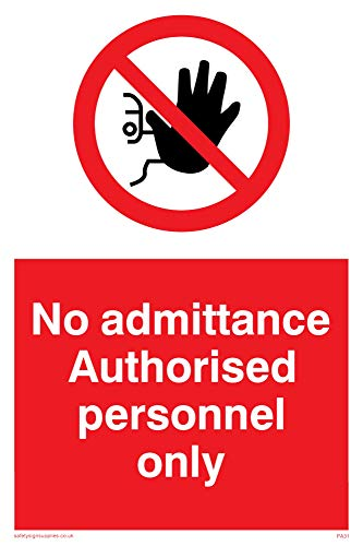 No admittance Authorised personnel only - Safety Sign for sale  Delivered anywhere in Canada