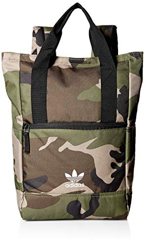 adidas Originals Tote Backpack, Olive Cargo Camo, One Size