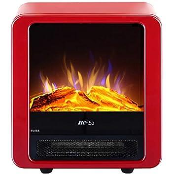 DGEG Calefactor, Chimeneas Eléctricas 220V, Decoración De Calefacción Estante Rojo De La Chimenea De La Sala De Estar Llama Artificial Eléctrica del LED: ...