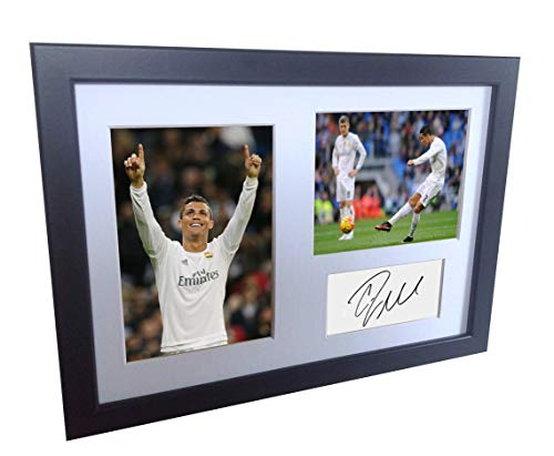 Signed Christiano Ronaldo Real Madrid Autographed Soccer Football Photo Picture Memorabilia Gift A4 by Kicks