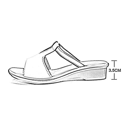 playa 250mm Blanco de de Cómodo verano mujer Zapatillas L 5 Amarillo para de antideslizante y Chanclas transpirable Zapatillas Tamaño PENGFEI Zapatillas playa surf mujer Slip Color UK6 EU40 de nYpC0q7fw