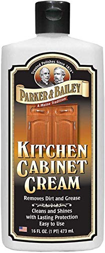 Parker and Bailey Kitchen Cabinet Cream - Wood Cleaner and Furniture Polish- Kitchen Cleaner and Cabinet Grease Remover- Wood Polish- 16 Ounce (Kitchens With Dark Cabinets And Wood Floors)