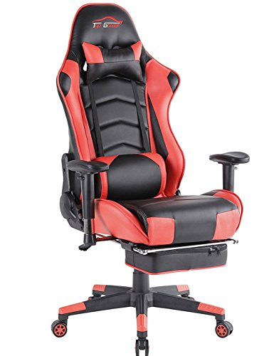 Top Gamer Gaming Chair PC Computer Game Chairs for Video Game (Orange-01)