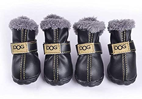 Dogs Faux Fur Boots