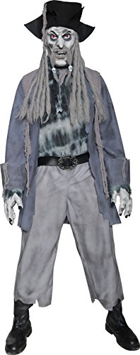 Ghost Boys Pirate Costume (Smiffys Men's Zombie Ghost Pirate)