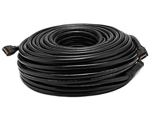 Monoprice 100ft 26AWG CL2 Standard HDMI Cable w/ Built-in Equalizer - Black