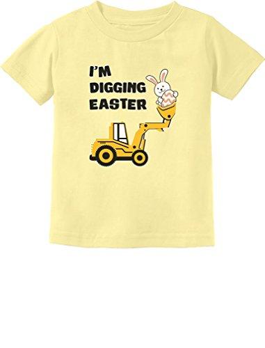 - I'm Digging Easter Gift for Tractor Loving Boys Toddler/Infant Kids T-Shirt 4T Banana