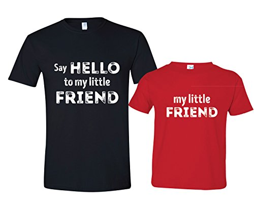 Say Hello to My Little Friend Shirt, Matching Father Son Tees, Mens XL & Size 2