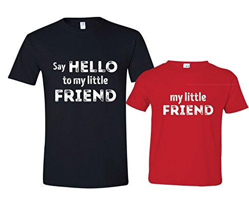Say Hello to My Little Friend Tshirt Gift, Mens XL Shirt & 12-18 mo