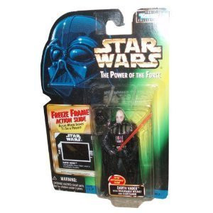 Helmet Freeze - Star Wars Year 1997 The Power of the Force 4 Inch Tall Action Figure - DARTH VADER with Detachable Hand, Removable Helmet and Red Lightsaber Plus Bonus Freeze Frame Action Slide