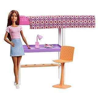 Barbie FXG52 - Deluxe-Set Möbel Hochbett mit Schreibtisch und Puppe 6