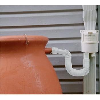 Basic Downspout Diverter Kit Rain Barrel Accessory