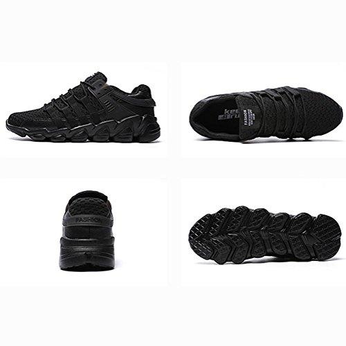 Maschile Flyknit tempo libero Scarpe sportive Peso leggero traspirante slittata Scarpe da corsa piatta Adatto per correre escursione , Black , 45
