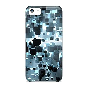 New 3d Floating Cubes Tpu Cases Covers, Anti-scratch Archerapp48a8 Phone Cases For Iphone 5c