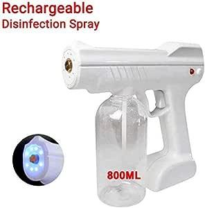 800ML Cordless Charging Electric ULV Sprayer Portable Fogger Machine Disinfection Machine, Nano Sterilization Atomizer, Disinfection Blue Light Steam Spray