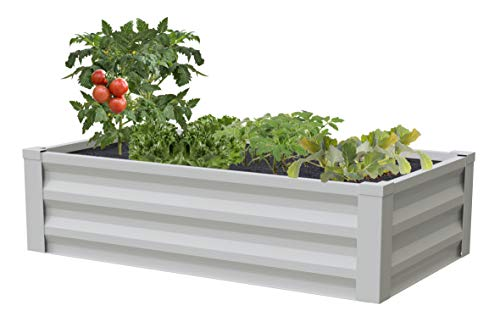 Greenes Fence Powder-Coated Metal Raised Garden Bed Planter 24″ W x 48″ L