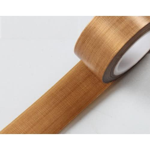 0.13mm Thick 25mm x 10M Roll Professional Electrical High Temperature PTFE Coated Fiberglass Adhesive Tape Nonstick