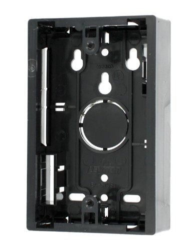 Leviton 42777-1EB Surface Mount Backbox, Single Gang, Black, 1.45