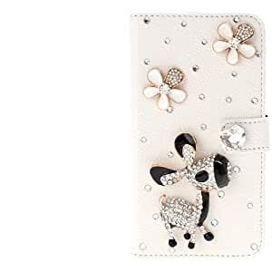 DIYLooks DIY 3D Donkey Diamond Encrusted Leather Case with Credit Card Slots & Holder for LG G2