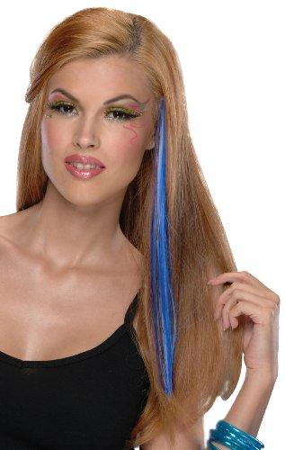 [Neon Blue Hair Extension] (Companies Make Dance Costumes)