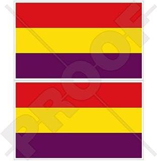 Pegatina La Republica Calavera Bandera Republicana Resina Relieve ...