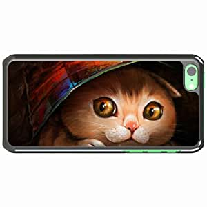 Customized Apple iPhone 5C PC Hard Case Diy Personalized DesignCover Art snout hiding cover White