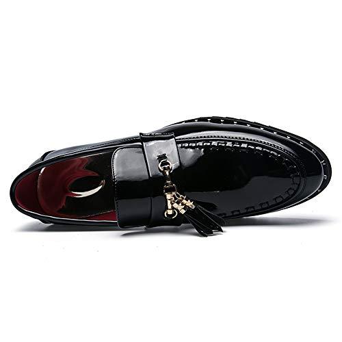 Nero 41 Oxford Formali Nero shoes 2018 Uomo Casual Scarpe Classiche Eu color Da Hongjun Dimensione Rivettate Antiscivolo YCawx6Yq