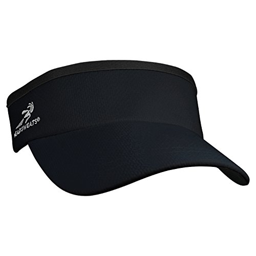 Headsweats Supervisor Sun/Race/Running/Outdoor Sports Visor, Black, One - Visor Women Running