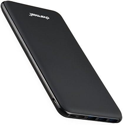 [スポンサー プロダクト]Charmast 26800mAh モバイルバッテリー 大容量 PD対応 QC3.0 18W 急速充電 4出力ポート 3入力ポート同時充電 薄型 軽量 スマホ充電器【PSE認証済み】 iPhone Android MacBook Type-C 機種等対応 (ブラック)