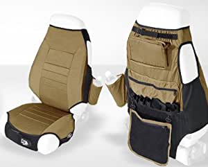 Rugged Ridge 13235.37 Spice Fabric Seat Protector with Storage - Pair