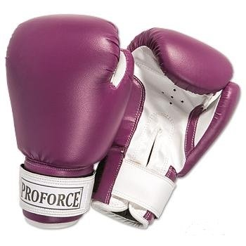 ProForce® Leatherette Boxing/Mixed Martial Arts/Karate Gloves - Purple (Proforce Leatherette Boxing Gloves)