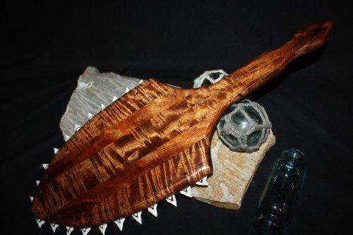 """AAA Grade Koa Hawaiian War Club 24"""" - Shark Teeth   #koa3952"""