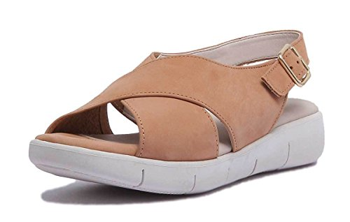 Womens Matt Leather The Sandal Rowbot Cognac Flexx zvqxxawP