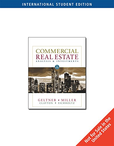 Commercial Real Estate Analysis and Investments (International w/ CD)