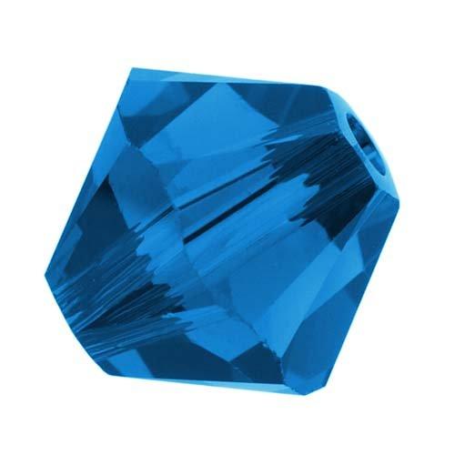 Swarovski Crystal, #5328 Bicone Beads 4mm, 24 Pieces, Capri Blue - Blue 4 Mm Bicone