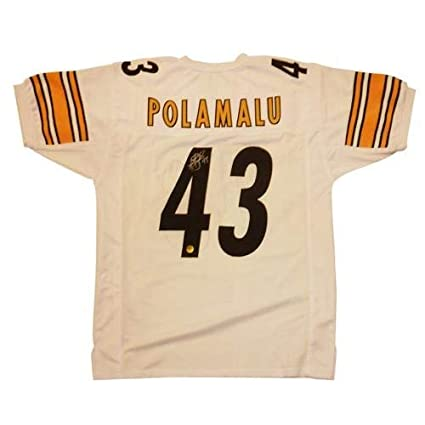 fe2233fbe34 Troy Polamalu Autographed Signed Auto Pittsburgh Steelers White  43 Jersey  Polamalu Holo - Certified Authentic