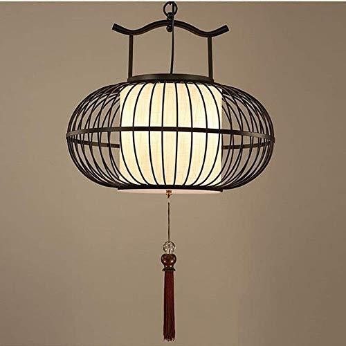 Lámpara de jaula de pájaros de hierro forjado moderna Lámpara de ...