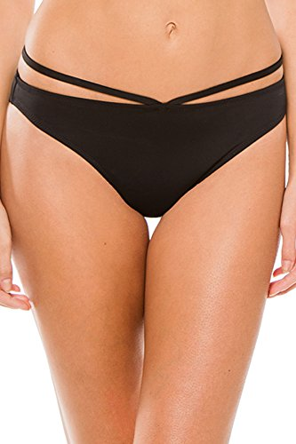 Miss Mandalay Icon Ring Brief Swim Bottom, M, Black
