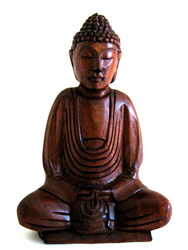 Large Buddha Statue Wood Carved Blessing & World Peace Buddha Sculpture, 8