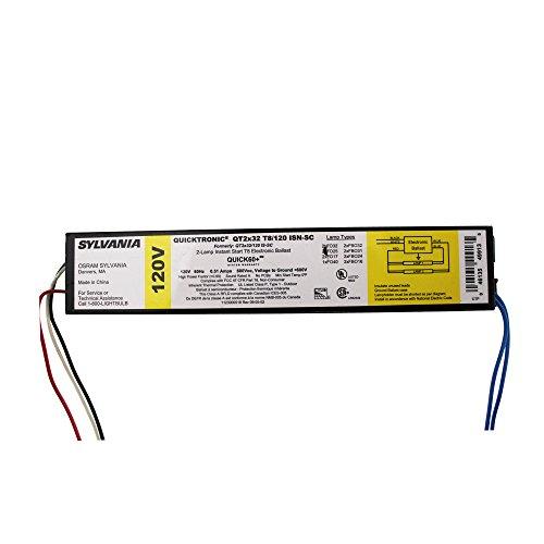 SYLVANIA QT2X32 T8/120 ISN-SC 120V Magnetic Ballast (Magnetic Electronic Ballast)