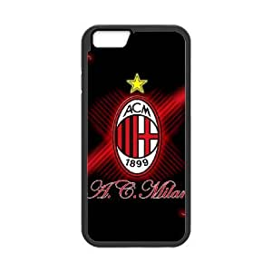 AC Milan Football iPhone 6 4.7 Inch Cell Phone Case Black delicated gift US6911768